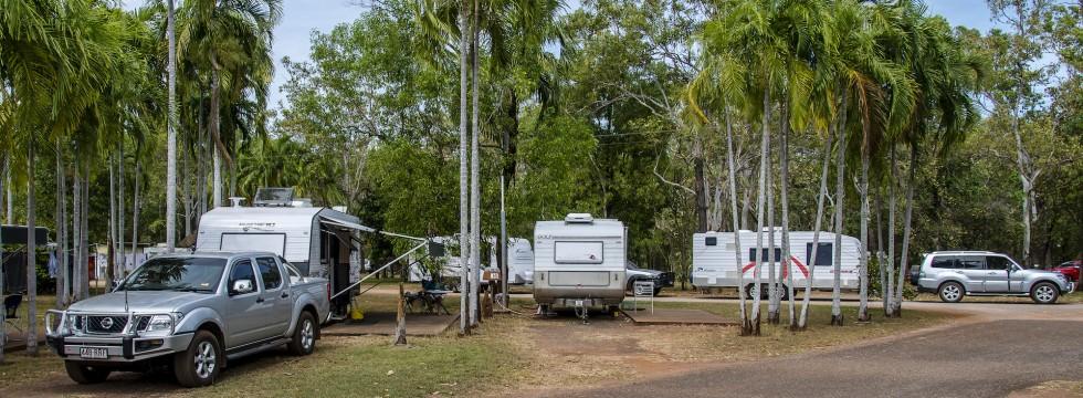 Batchelor Holiday Park caravans