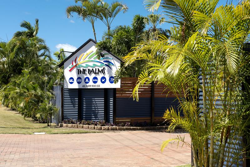 The Palms Hervey Bay entrance